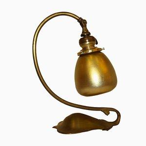 Lampe de Bureau en Laiton, 1930s