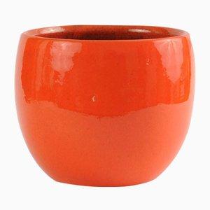 Cache-Pot en Céramique Orange, Allemagne, 1970s