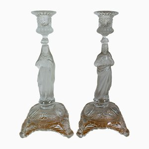 Candleholders from Vallerysthal & Portieux, 1920s, Set of 2