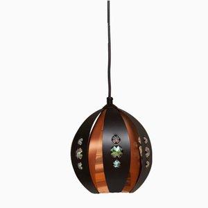 Lámpara colgante vintage de cobre con elementos de plástico