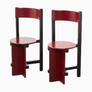 Chaises de Salle à Manger Bastille Vintage par Piet Blom pour Huizenga, Set de 2