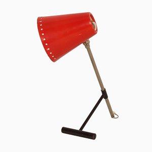 Lámpara de mesa Bambi roja de Floris Fiedeldij para Artimeta, años 50