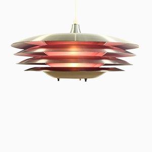 Lámpara colgante danesa morada, años 70