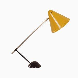 Lámpara de mesa amarilla de Floris Fiedeldij para Artimeta, años 50