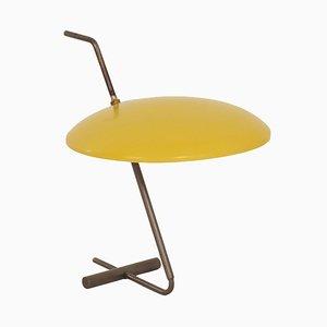 Gelbe Tischlampe von J.J.M. Hoogervorst für Anvia, 1950er