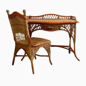 Wicker Dressing Table, 1970s