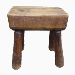 Antique Industrial Wooden Stool