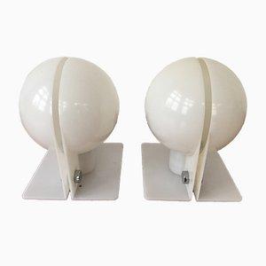 Lampes de Bureau Vintage par Ermanno Lampa et Sergio Brazzoli pour Guzzini, Set de 2