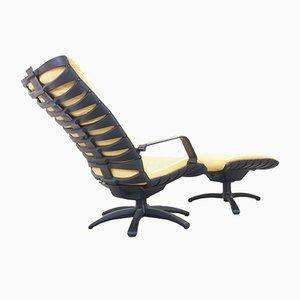 Vintage Antropovarius Easy Chairs & Ottoman by F.A. Porsche for Poltrona Frau