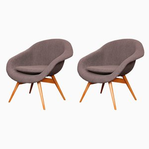 Vintage Lounge Chairs by Miroslav Navratil for Vertex, 1960s, Set of 2