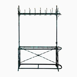 Wrought Iron Wardrobe or Clothes Rack from former Pub around 1900