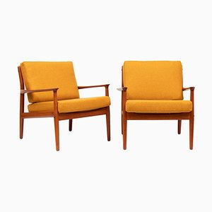 218 Armchairs by Grete Jalk for Glostrup, 1950s, Set of 2