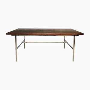 FK 196 Chromed Flat Steel Writing Desk by Fabricius & Kastholm for Alfred Kill, 1960s