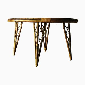 Tavolo da giardino Mid-Century in bambù, anni '60