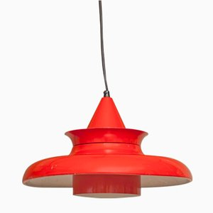 Lámpara de techo danesa vintage de aluminio