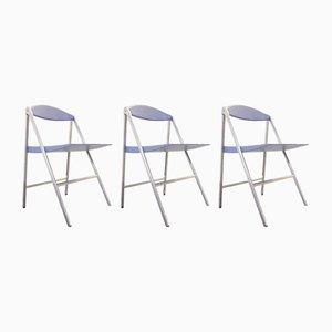 Chaises Pliantes Donald par Studio Cerri & Associati pour Poltrona Frau, 2000s, Set de 3