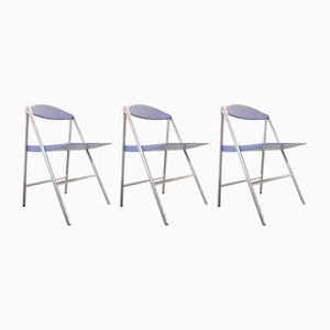 Donald Folding Chairs by Studio Cerri & Associati for Poltrona Frau, 2000s, Set of 3