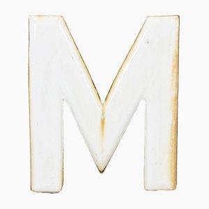 Letra M vintage esmaltada