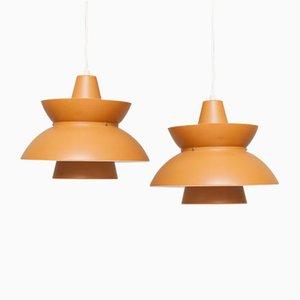 Dänische Vintage Deckenlampen, 2er Set