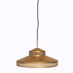 Vintage Danish Golden Pendant Lamp