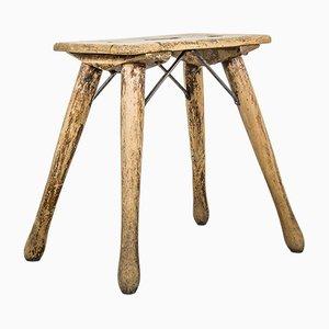 Sgabello vintage in legno