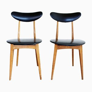 Vintage Scandinavian Dining Chairs, Set of 2