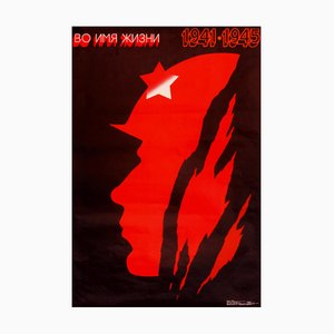 Sowjetisches 2. WK Gedenkposter, 1988