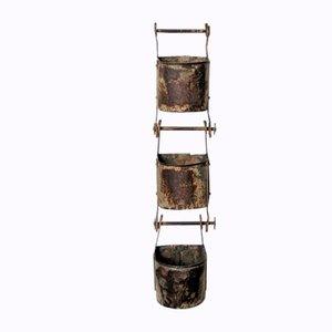 Industrial Indian 3-Piece Water Bucket, 1960s