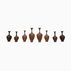 Vase Timber de De Coene, 1930s, Set de 8