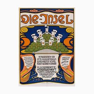 Affiche de Théâtre L'Ile par Emil Rudolf Weis, Allemagne, 1960s