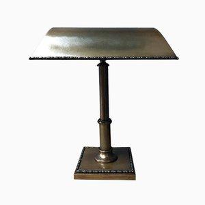 Lámpara de banquero de latón, años 30