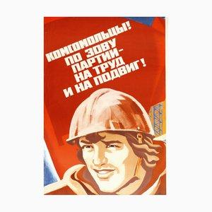 Póster de propaganda, años 80