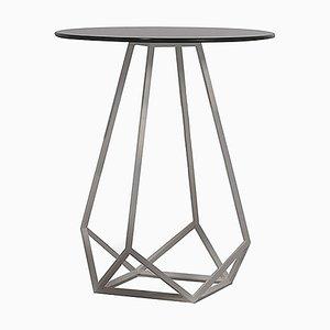 Tavolino alto con base in metallo bianco opaco di Estudihac JMFerrero