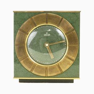 Grün emaillierte Mid-Century Ato-Mat Uhr aus Messing von Junghans