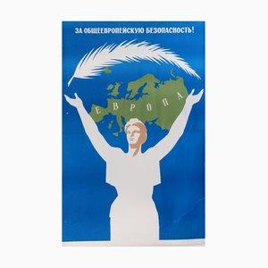 Affiche de l'URSS pour la Sécurité Générale, 1980s
