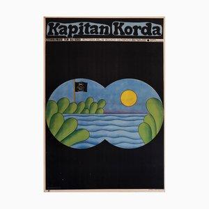 Affiche de Film Captain Times par Andrzej Krajewski, 1979