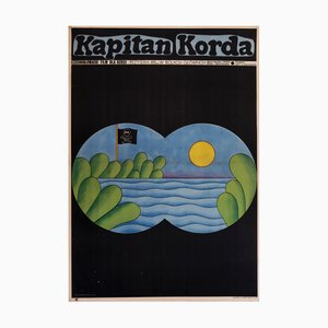 Captain Times Movie Poster by Andrzej Krajewski, 1979