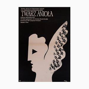 Póster de la película The Face of an Angel de Jerzy Flisak, años 70