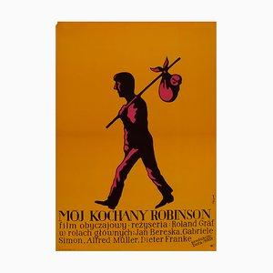 Affiche My Dear Robinson par Jerzy Flisak, 1971