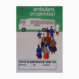 Polish Health and Safety Poster, 1970s