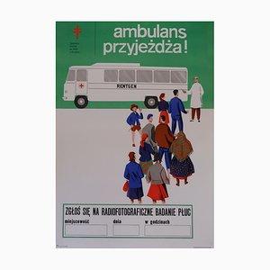 Polnisches Gesundheit &Sicherheit Poster, 1970er