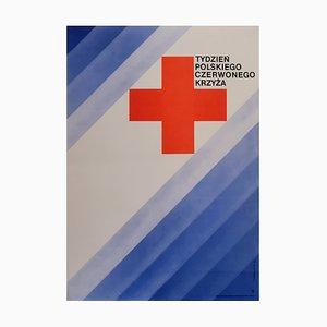 Póster de la Cruz Roja polaco, años 70