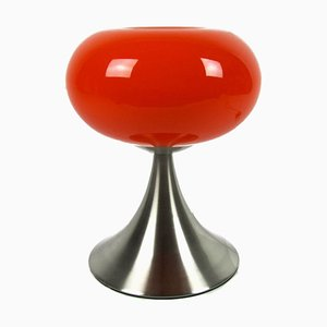 Red 7558-01 Table Lamp from Prisma Leuchten, 1980s