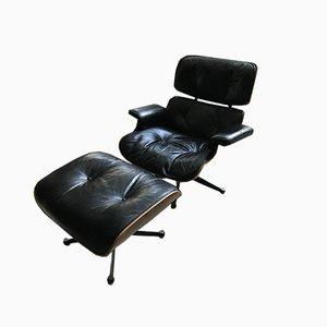 Sessel mit Schale aus Palisander von Charles & Ray Eames für Mobilier International, 1980er