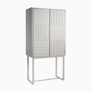 Hohes Sideboard aus Holz & Ökoleder mit weißer Oberfläche von Jacobo Ventura