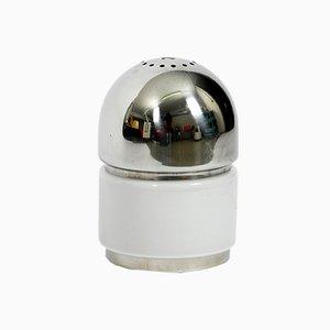Salt & Pepper Tischlampe aus Chrom & Milchglas von Goffredo Reggiani, 1970er