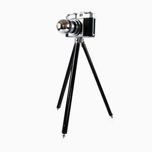 Lámpara de escritorio Zeiss Ikon Camera vintage con trípode