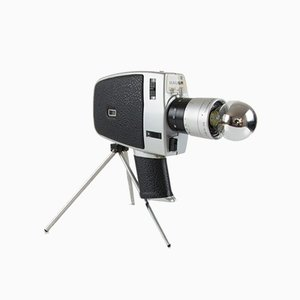 Vintage Bauer Video Camera Desk Lamp on Tripod
