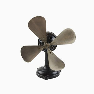 Vintage Upcycled Marelli Fan Table Lamp
