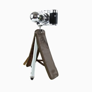 Vintage Upcycled Voigtländer Vito B Camera Desk Lamp on Tripod